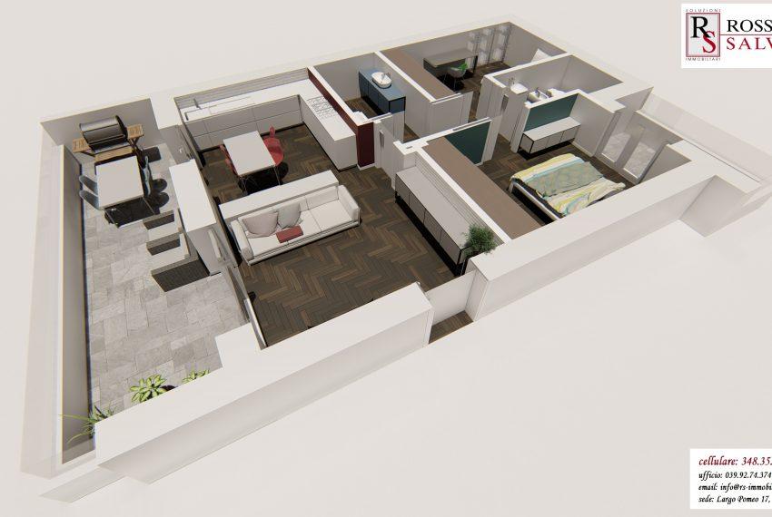 ecco come sarà l'appartamento