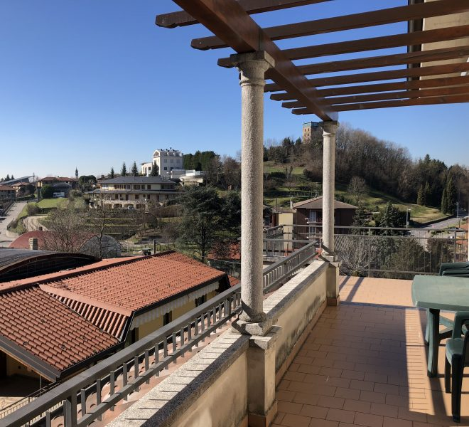 terrazzo con vista panoramica attico in vendita Nibionno