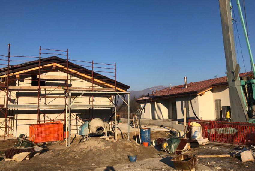 Nuove ville singole in costruzione