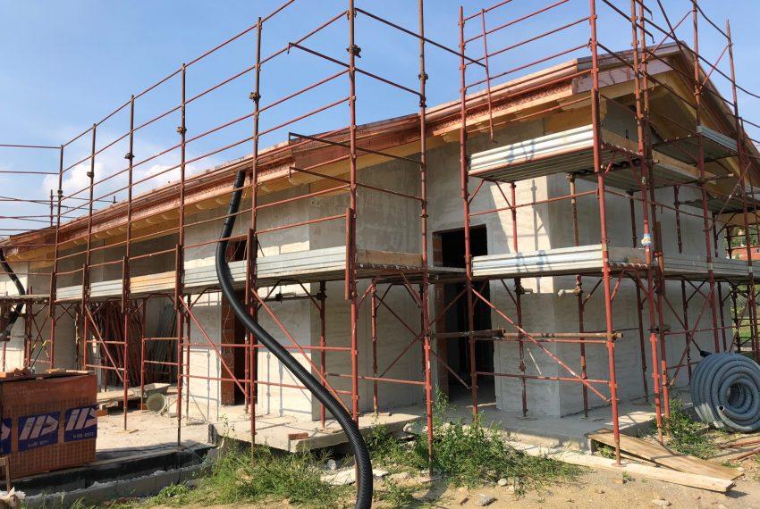 la villa in costruzione