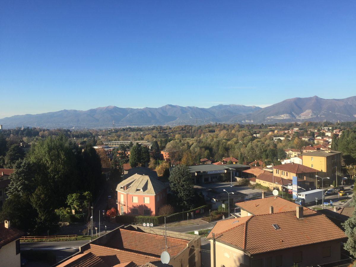 Vista panoramica da solarium comune