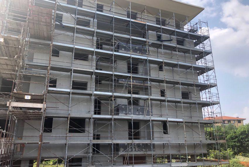 dettaglio facciata Residenza Monte Cervino