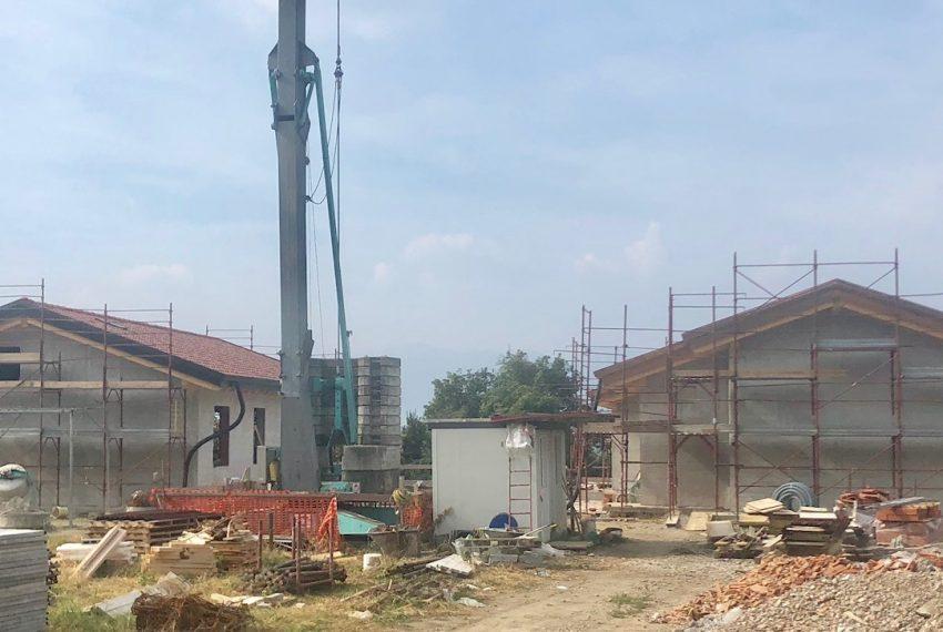 villa singola a Oggiono vista del cantiere