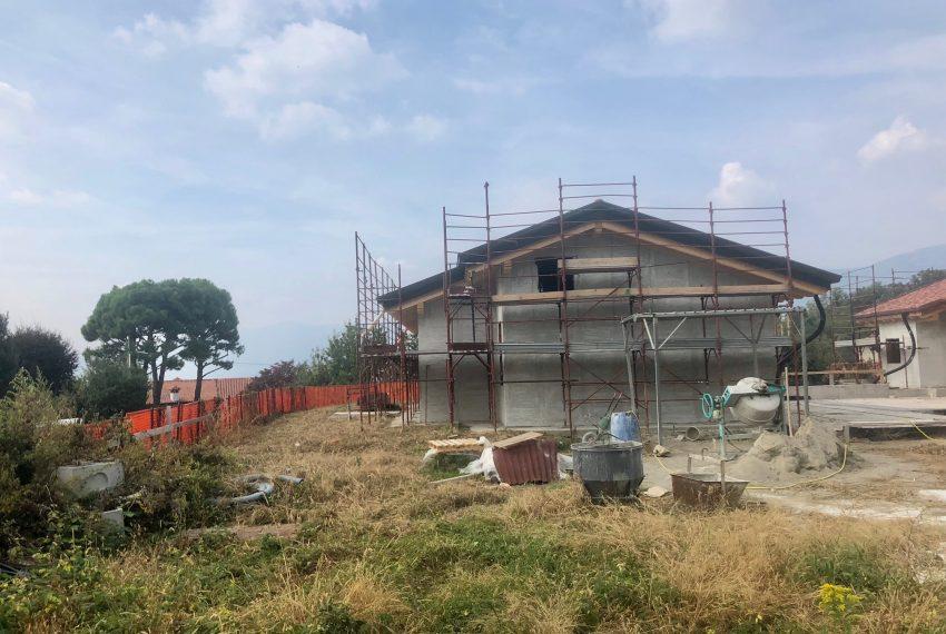 villa singola a Oggiono cantiere