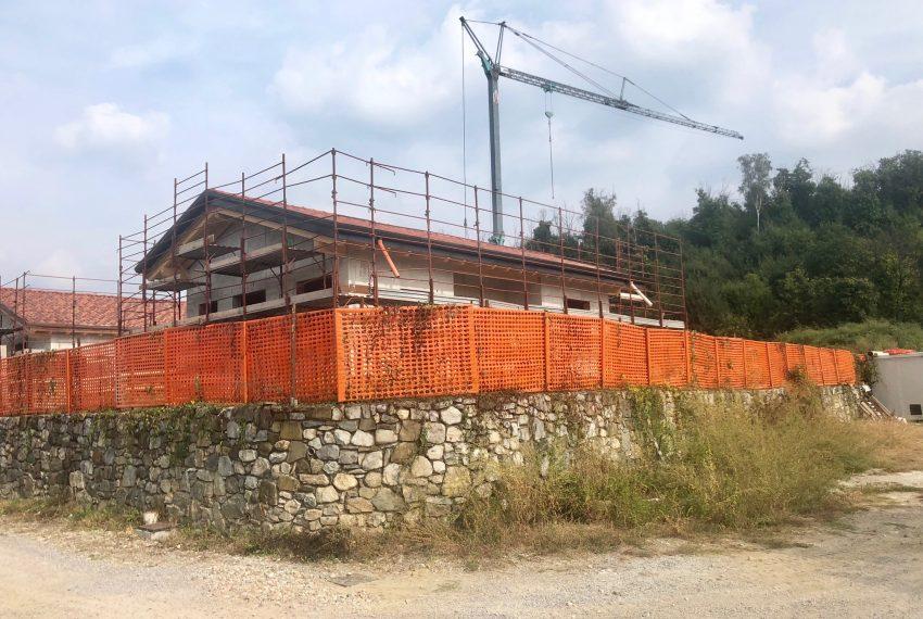 villa singola a Oggiono lavori in corso