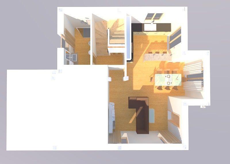 villa duplex render piano terra