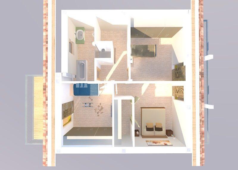 villa duplex render piano primo