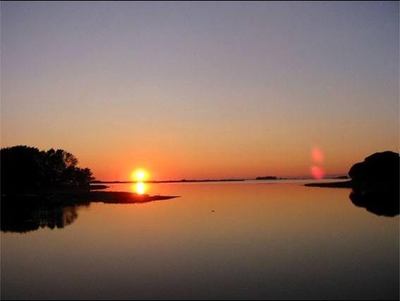 Isola privata in vendita panorama al tramonto