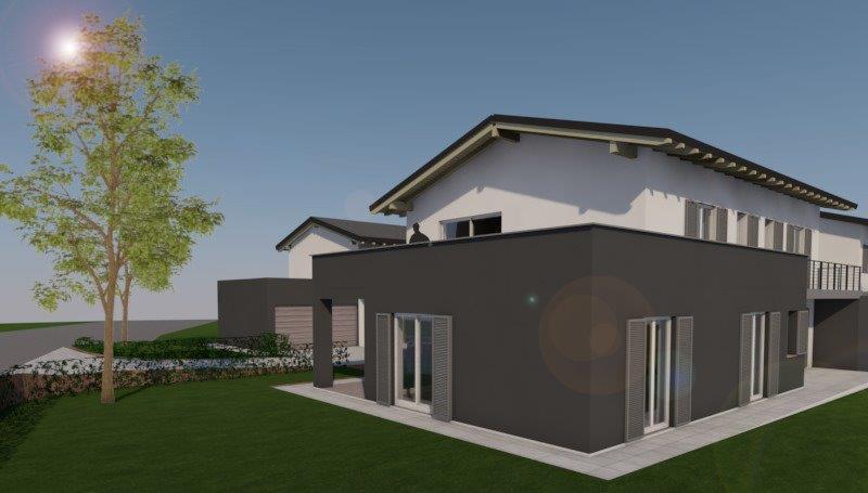 Nuova villa indipendente a Dolzago render progetto