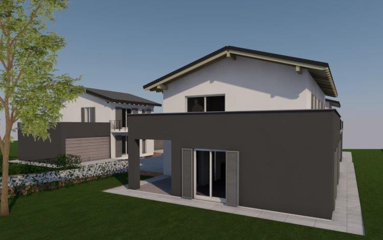 nuova villa indipendente a Dolzago progetto 2d