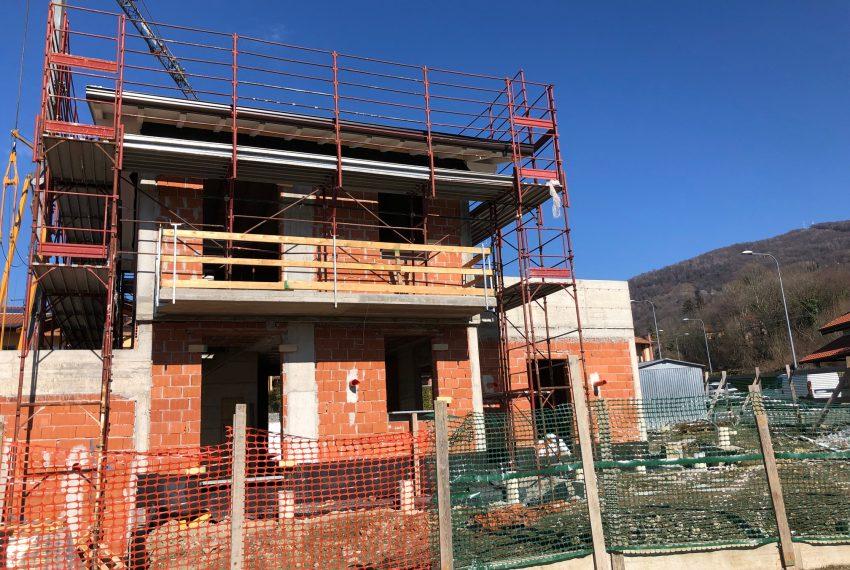 nuova villa indipendente in costruzione a Dolzago classe A