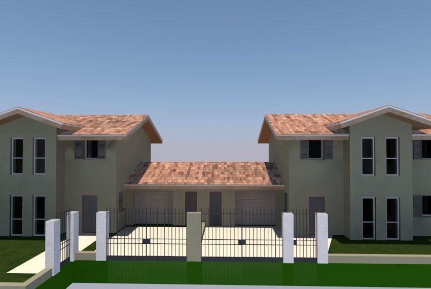 vista frontale progetto villa singola su due livelli