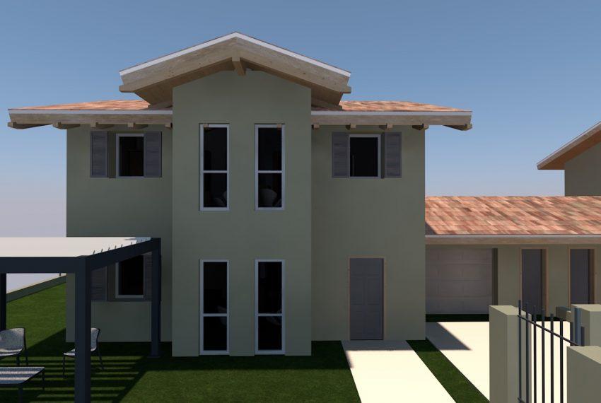 render progetto villa singola su due livelli