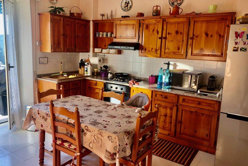 dettaglio della cucina a vista