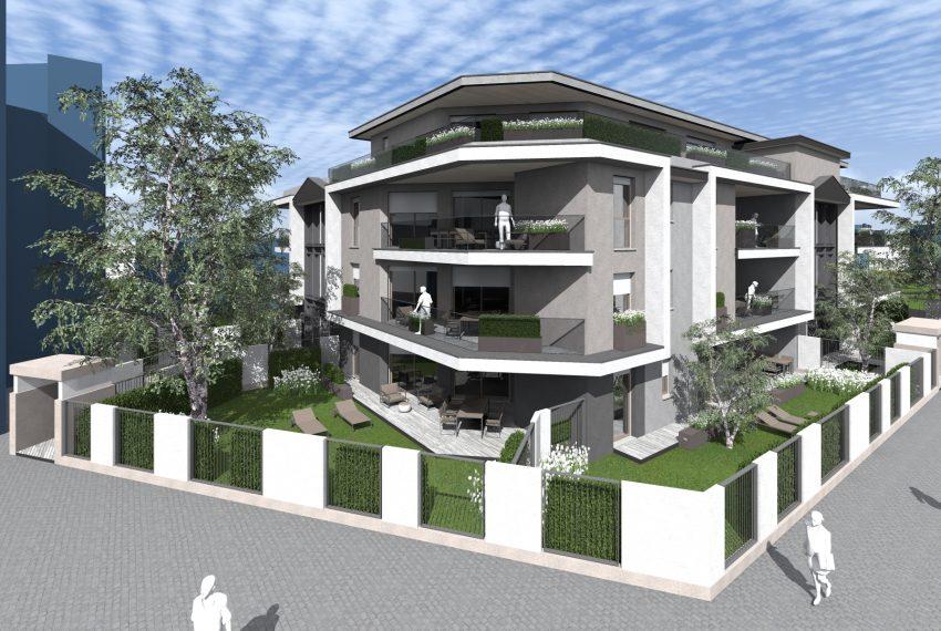 Residenza Le Terrazze vista generale progetto