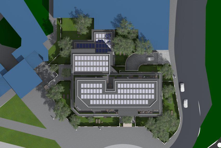 Residenza Le Terrazze appartamenti nuovi classe A3 vista aerea