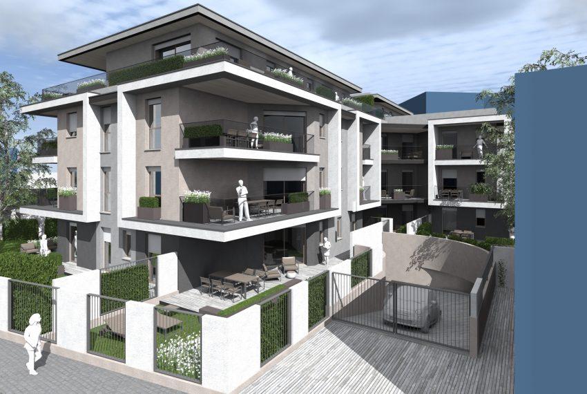 Residenza Le Terrazze render progetto