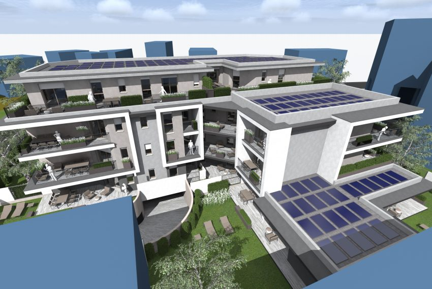 Residenza Le Terrazze vista aerea progetto