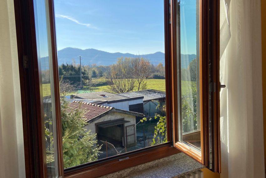vista dalla finestra del soggiorno