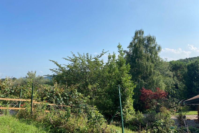 parte di giardino terrazzata